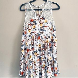 Umgee flower and lace dress